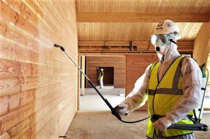 Protective wood treatment