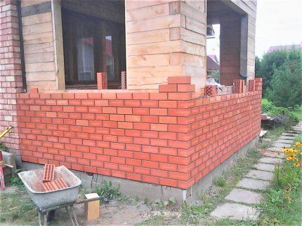 Cladding brickwork