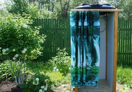 Shower in the country