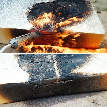 Mousse de polystyrène extrudé inflammable