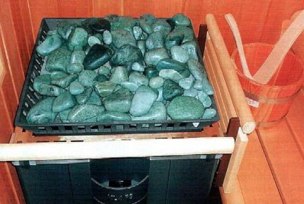 The shape of the stones for the stove