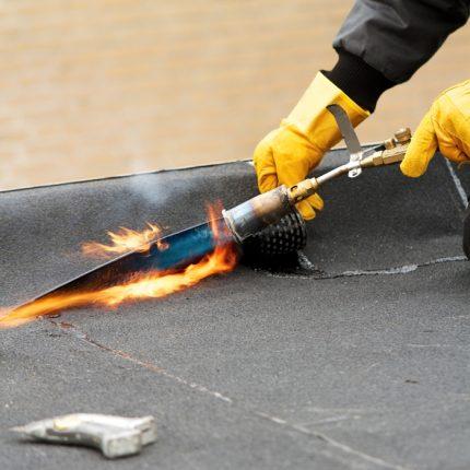 DHW burner in action