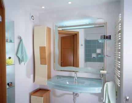 Kanāla ventilators vannas istabā