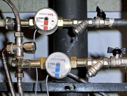 Compteurs d'eau chaude et froide