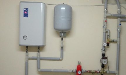 Electric boiler with heating element