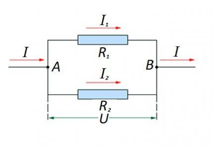 Connexion parallèle d'Ohm