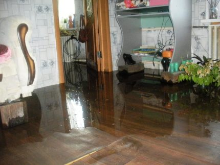 Flooding an apartment from a clogged sewer