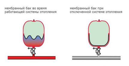 Expansion tank membrane
