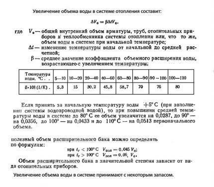 Formulas for calculating tank volume
