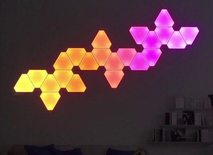 Panneaux lumineux Nanoleaf