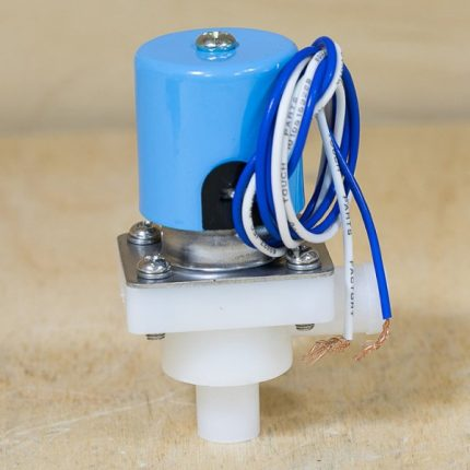 Solenoid valve with power wires
