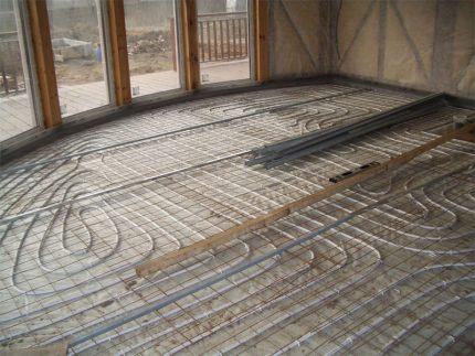 Grindų šildymo sistema