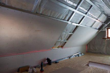 Attic ceiling formation
