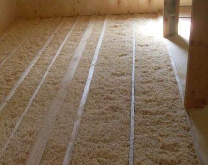 Sawdust as a heater