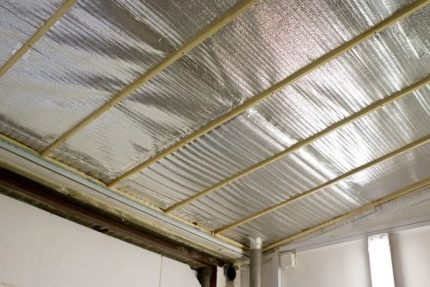 Penofol ceiling insulation
