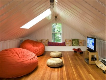 Room in the insulated attic