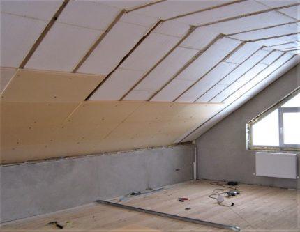 PIR panels in the attic