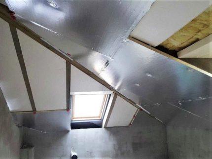 Foiled PIR plates for insulation