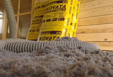 Ecowool for attic insulation
