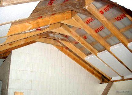 Polyfoam for attic insulation