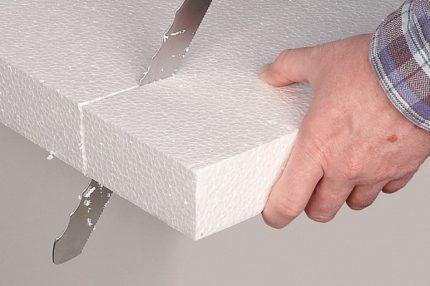 Cutting Styrofoam