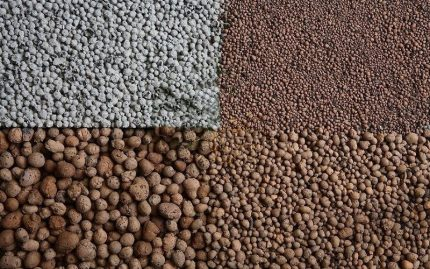 Types of expanded clay