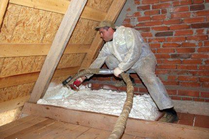 Sprayable insulation