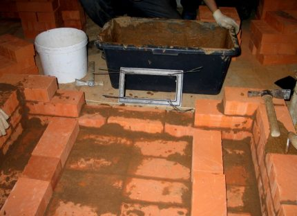 Clay mortar for masonry furnace