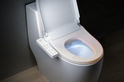 Couvercle intelligent avec bidet de toilette