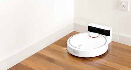 Le robot lui-même arrive à la station de charge