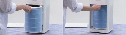 Replaceable filter for air purifier