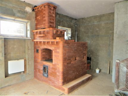 Option stove with a small stove bench