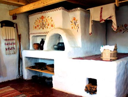 Russian stove in the hut