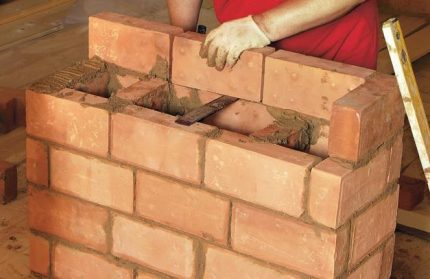 Brick laying on the edge