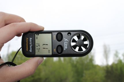The appearance of the anemometer