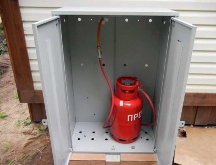Outdoor cabinet for LPG cylinder