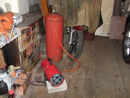 Réchauffeur de gaz propane
