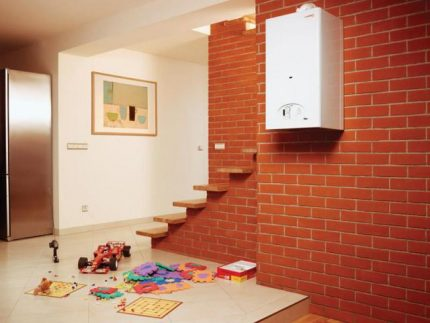 Gas heating of apartments