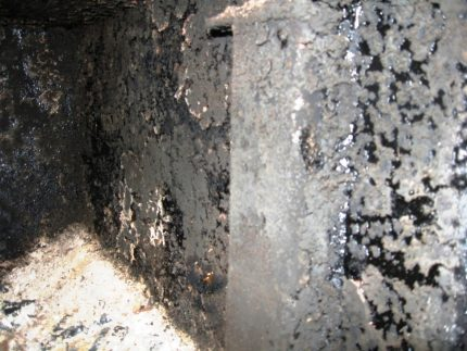Soot in the boiler