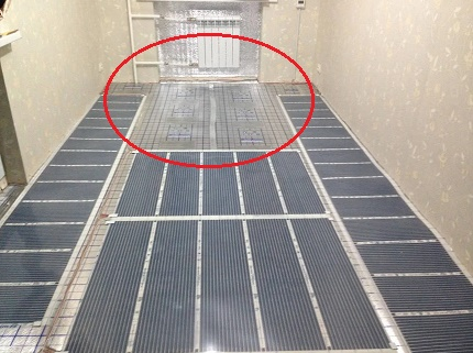 Rules for laying the infrared floor