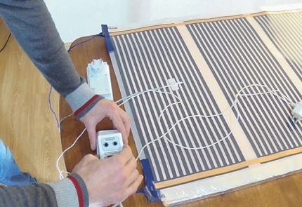 Assembly and installation of infrared heating system