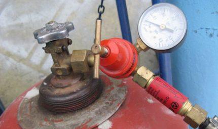Boîte de vitesses au propane avec manomètre