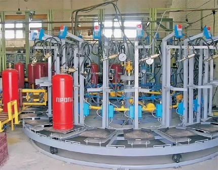 Gas filling station equipment