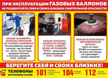 User warning poster