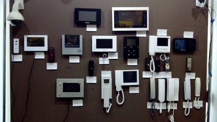 Interphones de différents fabricants