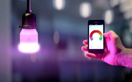 Contrôle d'éclairage du smartphone
