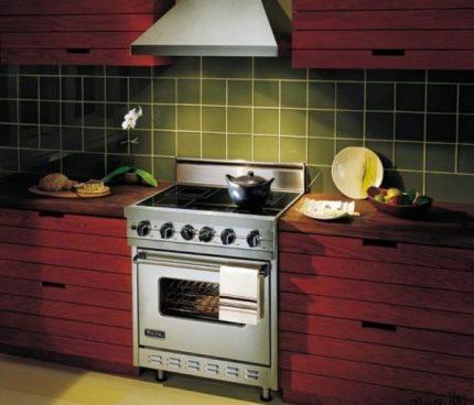 Poêle à gaz dans la cuisine