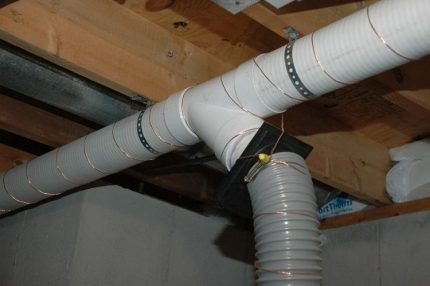 Plastic ventilation pipes