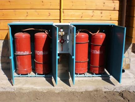 Cylindres pour une maison privée non gazéifiée