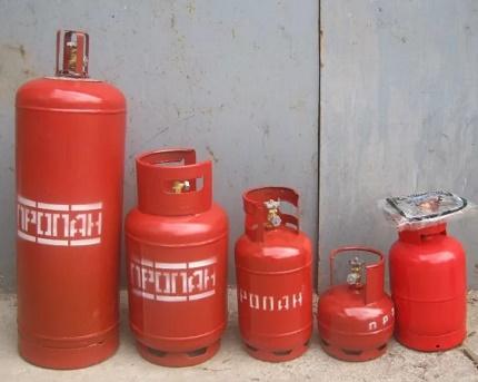Variétés de bouteilles de gaz